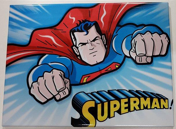 Quadro de Metal 26x19 Superman