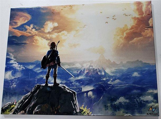 Placa de Metal 26x19 Zelda - Breath of the Wild