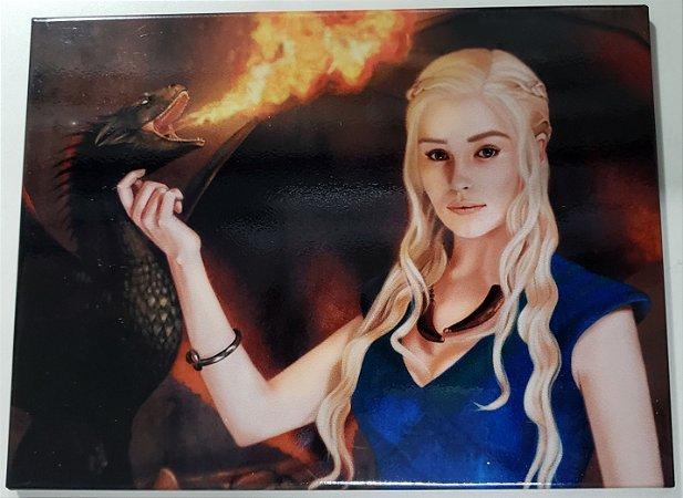 Quadro de Metal 26x19 Game of Thrones - Daenerys Targaryen