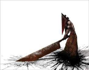 Quadro de Metal 26x19 Silent Hill - Pyramid Head