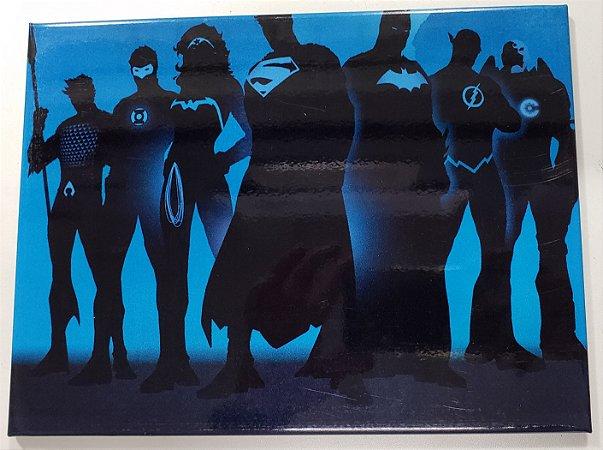 Quadro de Metal 26x19 Liga da Justiça