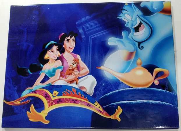Quadro de Metal 26x19 Aladdin