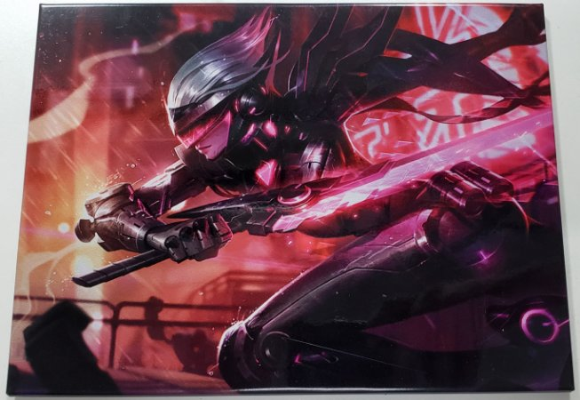 Quadro de Metal 26x19 League of Legends - Fiora Projeto