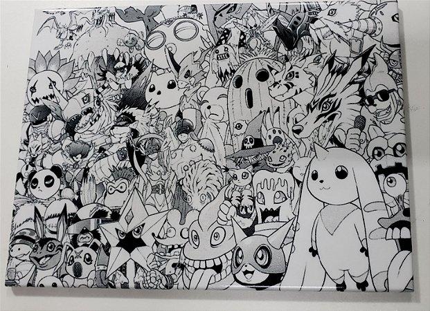Placa de Metal 26x19 Digimon