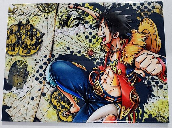 Quadro de Metal 26x19 One Piece - Luffy