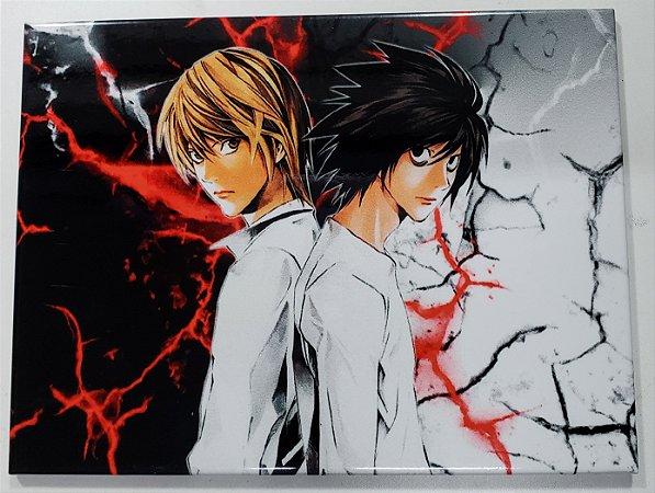 Placa de Metal 26x19 Death Note - Kira e L