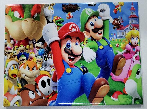 Placa de Metal 26x19 Super Mario - Castelo