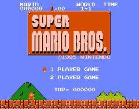 Quadro de Metal 26x19 Super Mario Bros