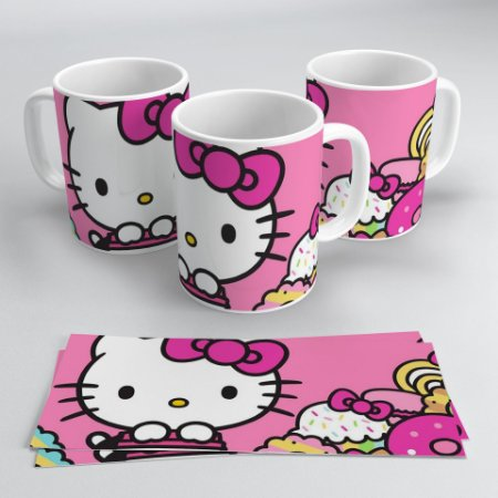 Caneca 300ml Hello Kitty Face