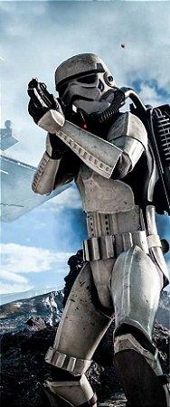 Quadro de Metal 26x11 Star Wars - Storm Trooper