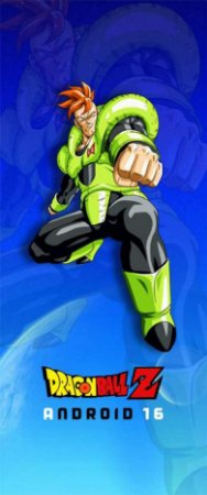 Quadro de Metal 26x11 Dragon Ball Z - Android 16