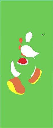 Quadro de Metal 26x11 Mario - Yoshi