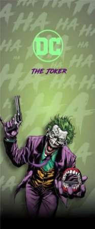 Quadro de Metal 26x11 Batman - The Joker