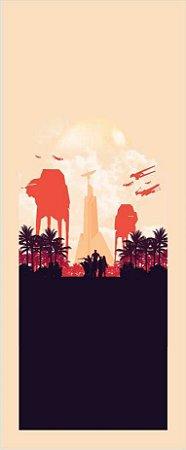 Quadro de Metal 26x11 Star Wars - Planeta Endor