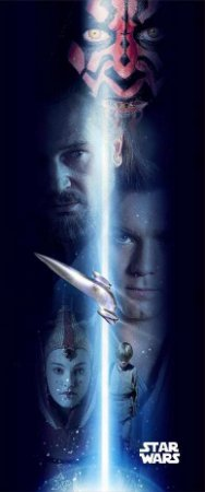 Quadro de Metal 26x11 Star Wars - Episódio I