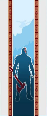 Quadro de Metal 26x11 God Of War - Kratos
