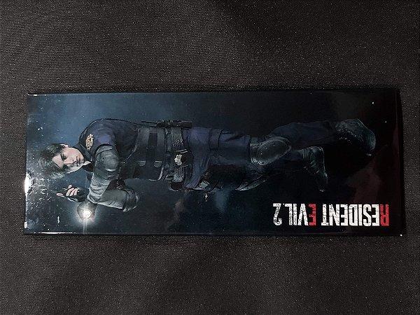 Quadro de Metal 26x11 Resident Evil 2 - Leon S. Kennedy