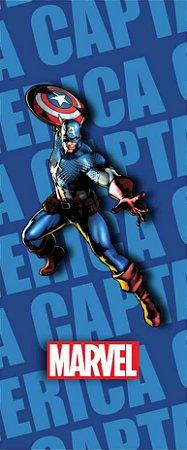 Quadro de Metal 26x11 Avengers - Capitão América