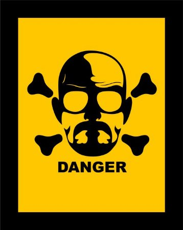 Quadro de Metal 26x19 Breaking Bad - Danger