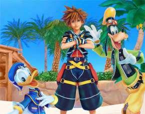 Quadro de Metal 26x19 Kingdom Hearts