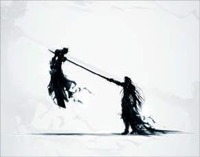 Quadro de Metal 26x19 Final Fantasy VII - Cloud vs Sephiroth