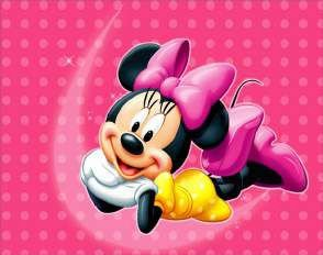 Quadro de Metal 26x19 Disney - Minnie Rosa