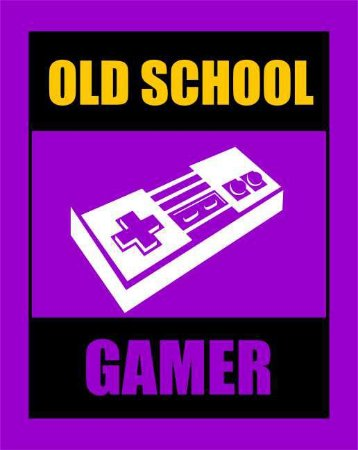 Quadro de Metal 26x19 Old School Gamer