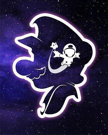 Quadro de Metal 26x19 Mario Galaxy