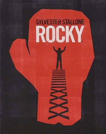 Quadro de Metal 26x19 Rocky Balboa