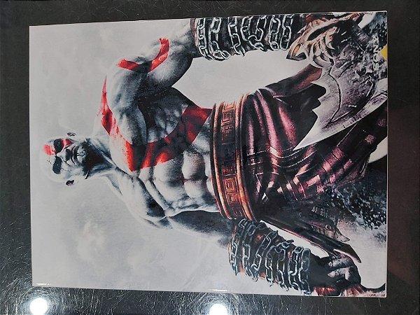 Quadro de Metal 26x19 God Of War 2 - Kratos