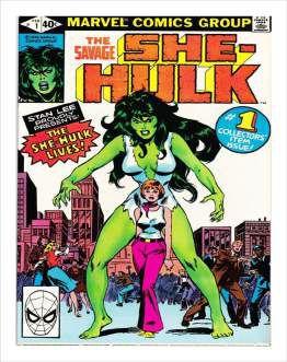 Quadro de Metal 26x19 She Hulk