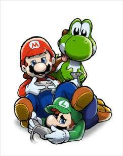 Quadro de Metal 26x19 Mario , Yoshi e Luigi Jogando Video Game