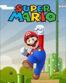 Quadro de Metal 26x19 Super Mario - Jumping