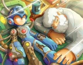 Quadro de Metal 26x19 Mega Man e Doutor