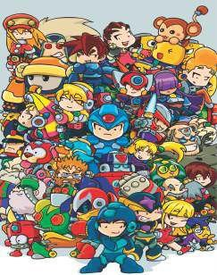 Quadro de Metal 26x19 Mega Man - Turma