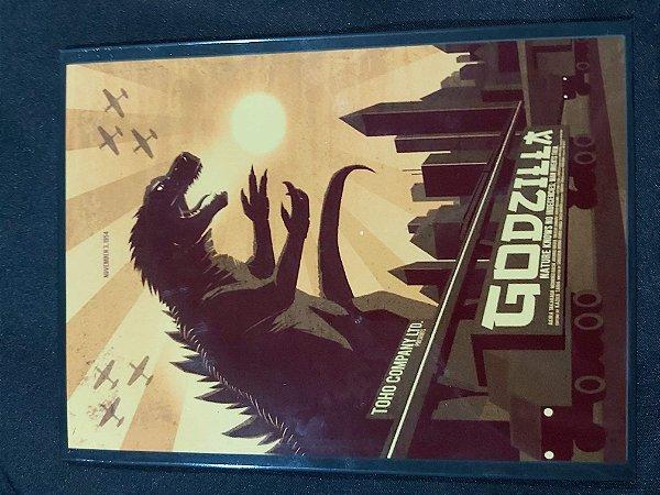 Quadro de Metal 26x19 Godzilla