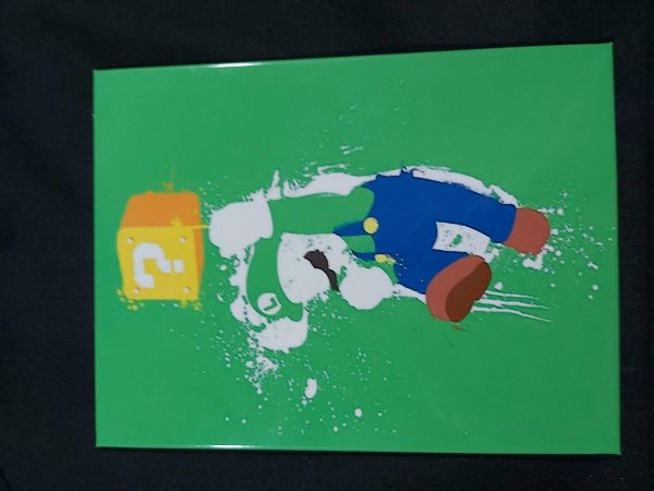 Quadro de Metal 26x19 Mario - Luigi Arte