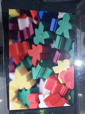 Quadro de Metal 30x40 Pessoinhas Coloridas