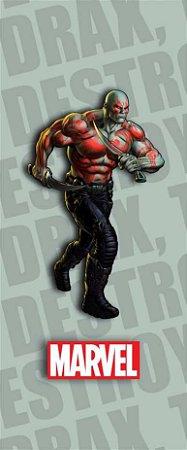 Quadro de Metal 26x11 Marvel - Drax