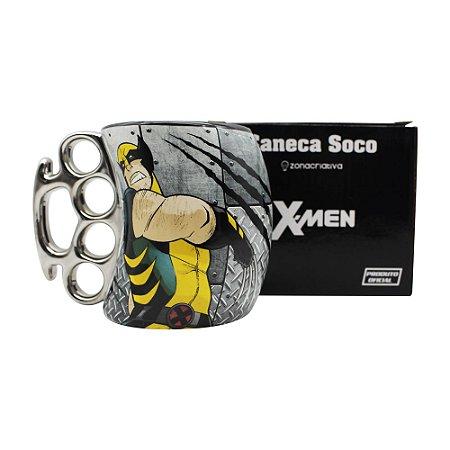 Caneca Soco Inglês 350ml X-Men - Wolverine