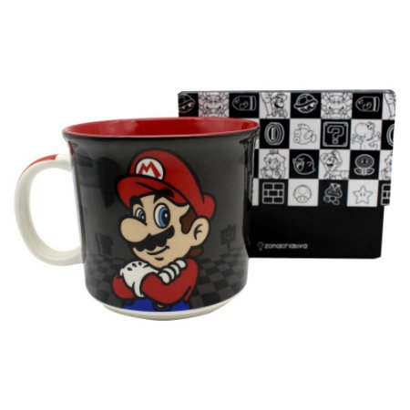 Caneca Tom 350ml Super Mario - Mario Black