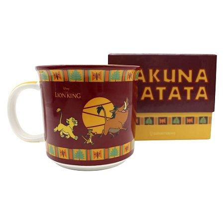 Caneca Tom 350ml O Rei Leão - Hakuna Matata