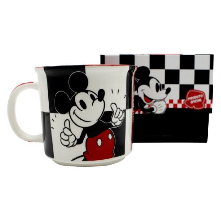 Caneca Tom 350ml Disney - Mickey Xadrez