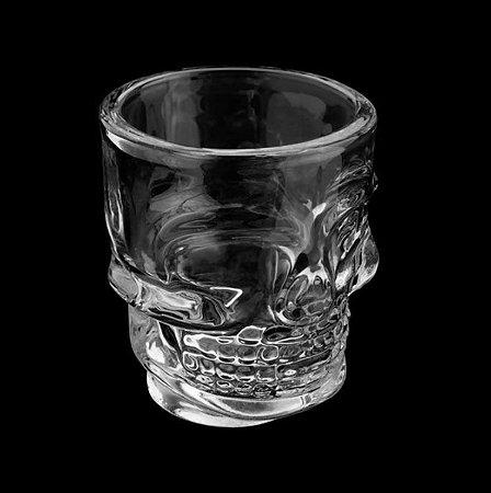Copo de Whisky 265ml - Caveira Transparente