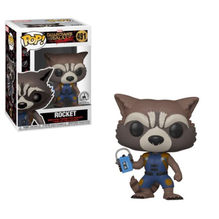 Funko Pop Guardiões da Galáxia - Rocket (491) Exclusivo Disney Parks
