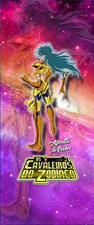 Quadro de Metal 26x11 Cavaleiros do Zodíaco - Afrodite de Peixes