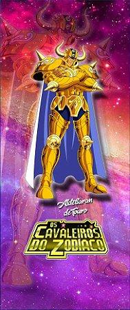 Quadro de Metal 26x11 Cavaleiros do Zodíaco - Aldebaran de Touro