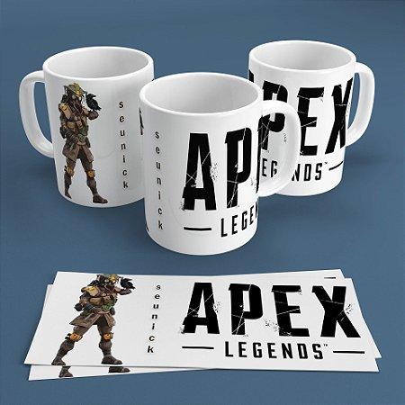 Caneca Personalizada 300ml Apex Legends Nickname - Bloodhound