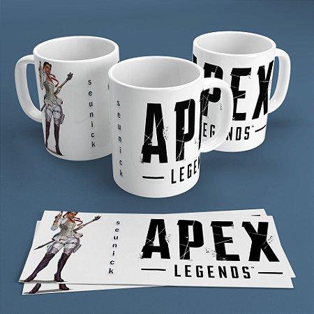Caneca Personalizada 300ml Apex Legends Nickname - Loba