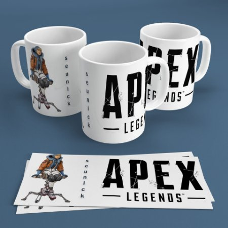 Caneca Personalizada 300ml Apex Legends Nickname - Wattson